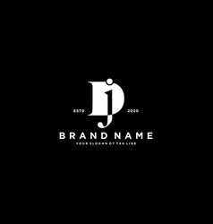 Letter dj logo design vector