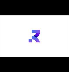 Letter r modern logo design vector