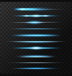 Light flashes flare or sparkles glow lines set vector