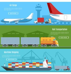 Logistic And Transportation Banners Set vector image