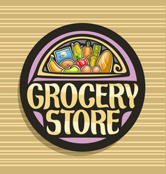 Logo for grocery store vector