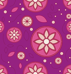 Lotus floral pattern vector image