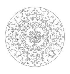 Mandala coloring page abstract vector