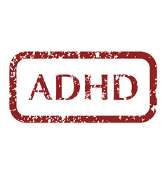 mental disorder adhd stamps vector image