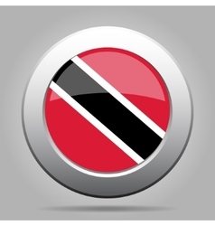Metal button with flag of Trinidad and Tobago vector