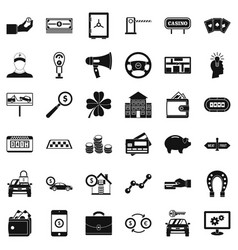 Money icons set simple style vector
