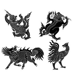 Monsters from asian literature vector