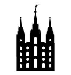 Mormon style temple vector