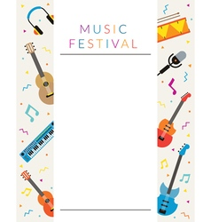 Music Instruments Objects Poster vector