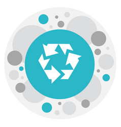 Of business symbol on recycle vector