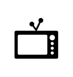 old tv graphic design template vector image
