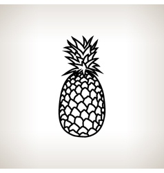 Pineapple in contours vector