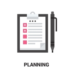 Planning icon concept vector