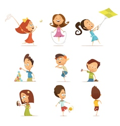 Playing Kids Set vector image