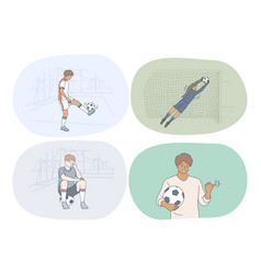 professional football player soccer ball vector image