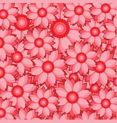 Red flower pattern with overlapping petals vector