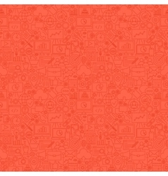 Red Line SEO Seamless Pattern vector