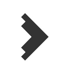 Right arrowhead glyph icon forward triangular vector