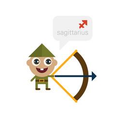 sagittarius - horoscope cartoon character vector image