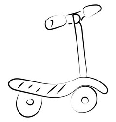 scooter drawing on white background vector image