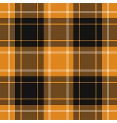seamless orange black tartan with white stripes vector image