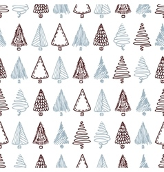 Seamless pattern with hand drawn different vector
