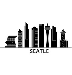 Seattle architecture city skyline travel vector