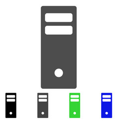 Server mainframe flat icon vector