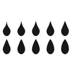 set logo shape water drop template vector image