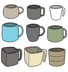 set of beverage cup vector image