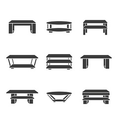 Set of tables vector image