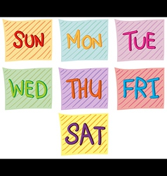 Seven days of the week vector
