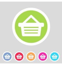 Shopping basket flat icon vector image