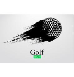 silhouette a golf ball vector image
