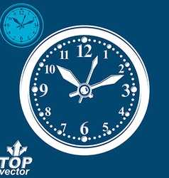 Simple wall clock with stylized white clockwise vector
