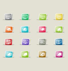 smart tv icon set vector image