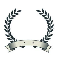 Sport emblem with wreath vector