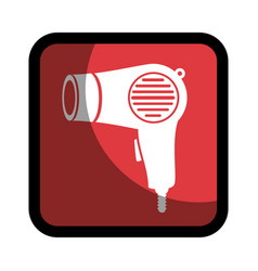 square button hairdryer utensil hairstyle vector image