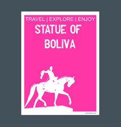 statue of boliva new york usa monument landmark vector image