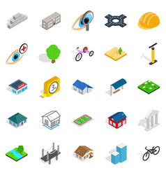 structure icons set isometric style vector image
