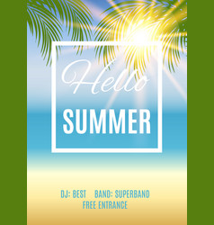 Summer party poster background vector