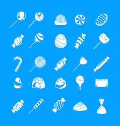 sweet candy icon set simple style vector image