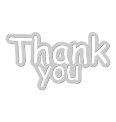 thank you card thank you handwritten vector image