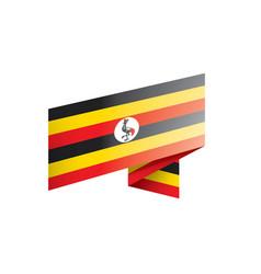 uganda flag on a white vector image