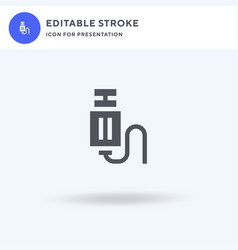 usb cable icon filled flat sign solid vector image