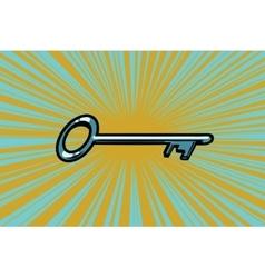 Vintage door key vector