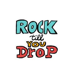 vintage rock label rock it with lightning vector image
