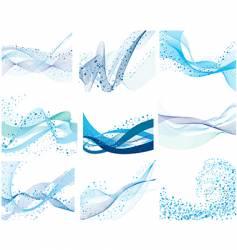 Water backgrounds vector