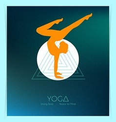 Woman doing yoga asanas flyers vector