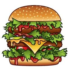 Xxxl burger vector